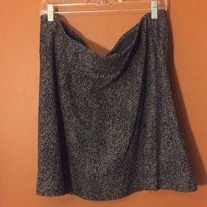 Loft Gray with white speckled mini skirt